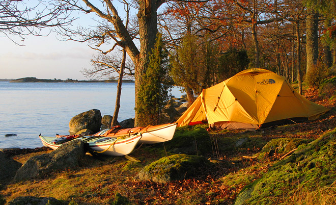 Läger på Arpös ostspets
