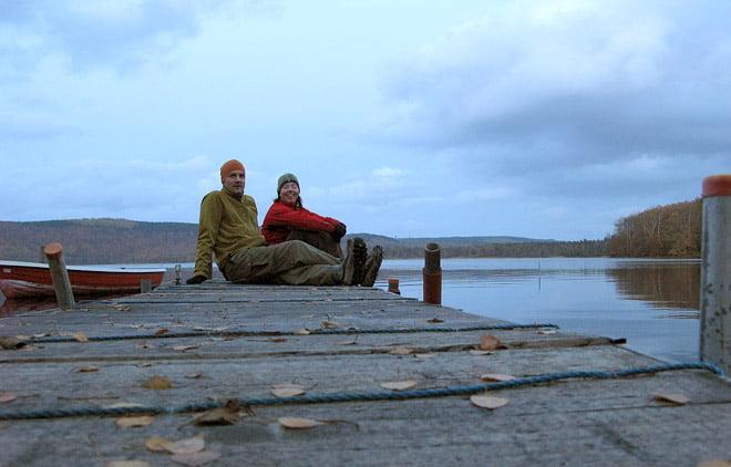 På en brygga i Västersjön
